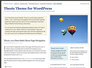 Thesis style wordpress theme