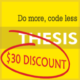 Thesis Theme Coupon $ 30 – Limited Time Offer