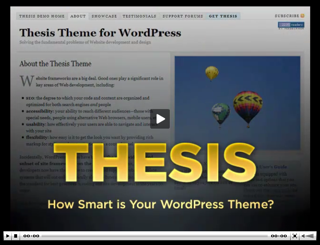 review on thesis theme What do lavar burton, copyblogger and this blog all have in common we're all rocking the thesis theme (and you'd better believe that's an affiliate link) over the last year, thesis has taken the wordpress community by storm, quickly becoming.