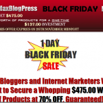MaxBlogPress Discount Black Friday Sale 70 % Off – Only for the next 10 hours