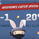 Woo Themes 20% off Easter Weekend Promo