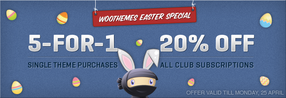Woo Themes - Easter Weekend Promo