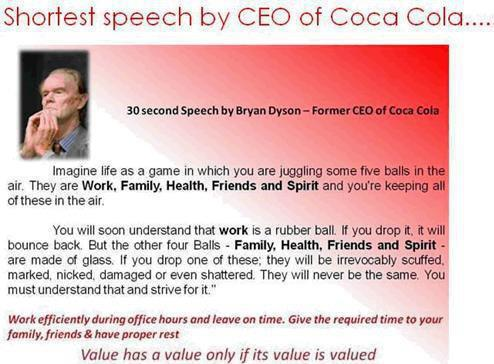 Shortest Speech Coca Cola