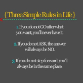 Good Morning Sunday: Three Simple Rules in Life