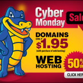 HostGator's Cyber Monday Sale: 50% off on Web Hosting Plans