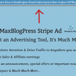 MaxBlogPress Stripe Ad Pro Plugin – Get 30% Discount, Drive Traffic to Anywhere you Want