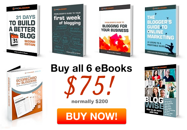 Problogger eBooks at 50% Discount