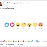 Facebook extends Like Buttons, Launches Reactions