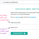 Now create multiple copies of an email draft in Gmail