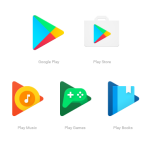 Google Play icons gets a bright design